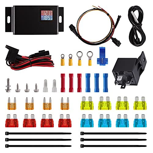 Adjustable Car Fan Controller, LITROK Digital Temperature Control Switch Kit