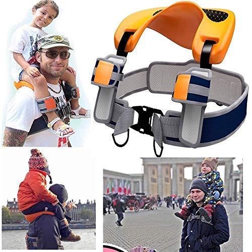 QYWSJ Sillín de Asiento de Hombro, Diseño Ergonómico con Correas de Tobillo para Niños, Protección de Seguridad en Todas Las Direcciones, para Senderos, Camping, Viajes de Fitness