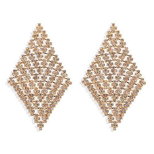 JIAJBG Pendientes Diamantados Imitados Exagerados Pendientes Huecos Personalizados Accesorios de Vestimenta Decoraciones/B