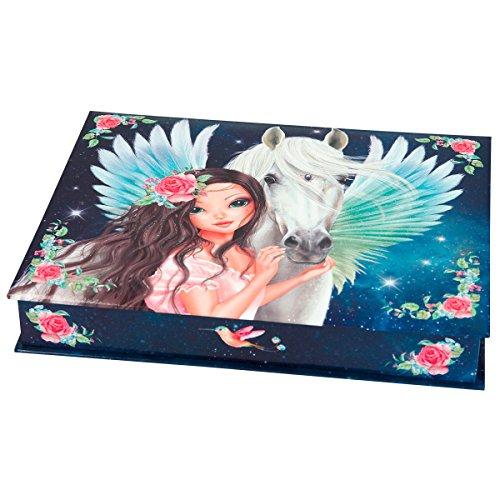 TOPModel 3949.001 Fantasy Model Schreibwarenbox, Motiv 2 Box mit Inhalt: 3 Bleistifte, 1 Radiergummi, 25 Büroklammern, 100 Notizzettel