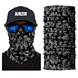 Airzir Camo Outdoor Motorcycle Face Mask, Breathable Seamless Tube Dust-proof Windproof UV Protection Motorcycle Bicycle ATV Face Mask for Motorcycling Cycling Hiking Camping Climbing Fishing Hunting