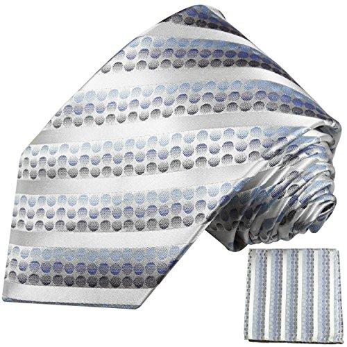 Cravate homme bleu rayée ensemble de cravate 2 Pièces (longueur 165cm)