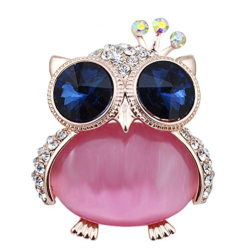 Vintage Navy Blue Eye Owl Baby Brooches For Women Cute Small Animal Brooch Pin Kids Gift Backpack Badges