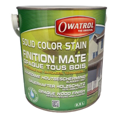 Owatrol Solid Color Stain 2,5 ltr. (Deckweiss)