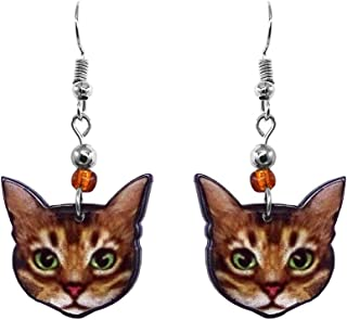 Mia Jewel Shop Horse Animal Graphic Teardrop Thread Dangle Earrings