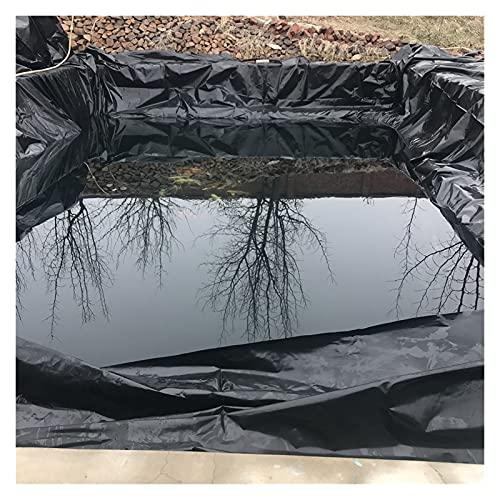 YJFENG Teichfolien, 0,5 Mm Schwerlast Undurchlässiger Film, Polyethylen Bettwäsche Membran, Verstärkt Feuchtigkeitsbeständig Bodenisolierung Für Pools Brunnen (Color : Black, Size : 2x5m)