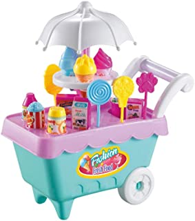 Metal Dragon 77th Ice Cream Candy Cart Toys Supermarket Trolley for Kids Gift Random Color