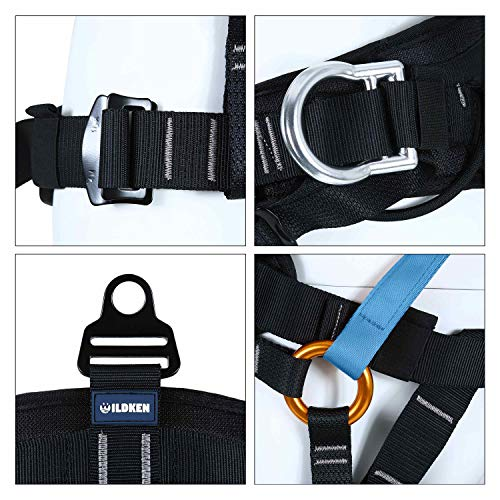 kissloves Full Body Safety Harness Outdoor Climbing Harness Half Body Harness Safe Seat Belt for Mountaineering Outward Band Expanding Training Rock Climbing Rappelling Equip (Half-Body Blue)