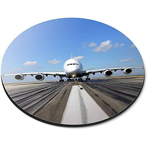 Ronde muismat - A380 Airbus vliegtuig Runaway Pilot Office Gift