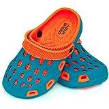 Aqua Speed Zapatillas de baño Silvi para niños y Adolescentes, Color:Azul/Naranja, Talla de Zapatos de baño:26