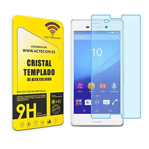 cogac Cristal Templado Compatible con Sony Xperia M4 Aqua Protector Pantalla 0.2MM
