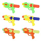 Fun-Here Water Guns 9 Inch 6 Packs for Kids Adults Multicolor Squirt Gun in Party Pool Bath Favors Indoor Outdoor Funy...