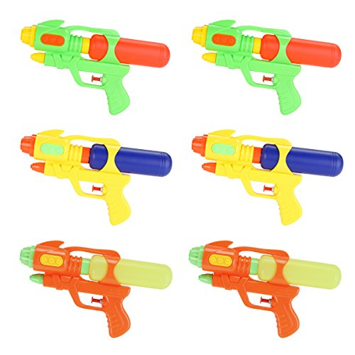 Fun-Here Water Guns 9 Inch 6 Packs for Kids Adults Multicolor Squirt Gun in Party Pool Bath Favors...