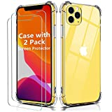 OULUOQI Case Compatible with iPhone 11 Pro Max, Shockproof Clear 6.5
