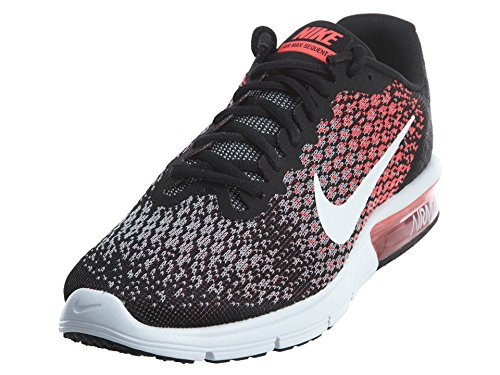 Nike Womens Air Max Sequent 2 Running Shoes Black/White/Racer Pink (9, Multi)