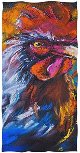 Wheatleya Ursprüngliche Pastellmalerei der bunten Hahn-Tuch-Waschlappen