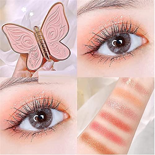 NAUXIU Paleta De Sombras De Ojos Butterfly - 6 Colores Paleta De Sombras De Ojos Butterfly Shimmer Glitter Cosmetic Beauty Kit Sombra De Ojos En Polvo 02