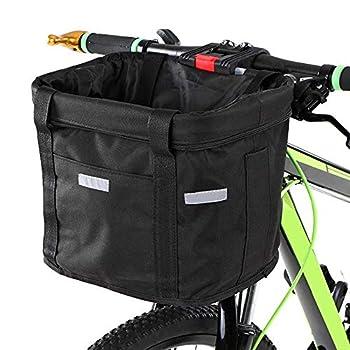Fewao Panier de Vélo Avant Détachables Cycle Avant Toile Panier Transporteur Sac Pet Cat Chien Transporteur Sac en Aluminium Cadre Top Poignées