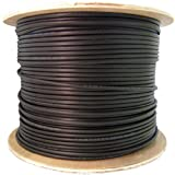 CLASSYTEK Direct Burial/Outdoor Rated Cat6 Black Ethernet Cable, Solid, CMX, Waterproof Tape, Spool, 1000 Foot