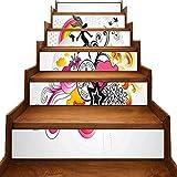 3D-Treppen-Aufkleber, Design: Wirbel-Design, Fee, Vögel, Regenbogen Schneeflocke und...
