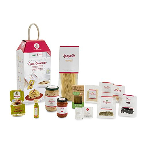 CENA SICILIANA My Cooking Box x2 Porzioni - Per una serata tra amici, una cena romantica o come idea regalo originale! Resta a casa con My Cooking Box!