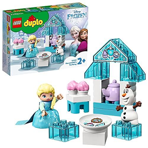 LEGO 10920 DUPLO Frozen II Teeparty mit Elsa und Olaf, großes Steine-Set mit Cupcakes und einer Teekanne, für Kleinkinder ab 2 Jahren