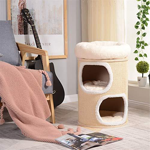 DLSMB - Cubo de sisal de doble capa para gatos y gatos