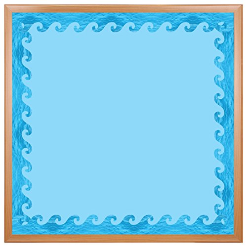 Hygloss Products Ocean Waves Die-Cut Bulletin Board Border – Classroom Decoration – 3 x 36 Inch, 12 Pack (33657)