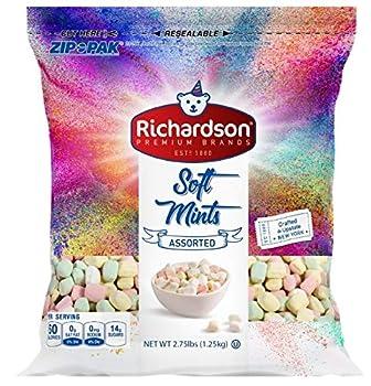 Richardson Pastel Soft Mint Candy 2.75 LB Resealable Bag