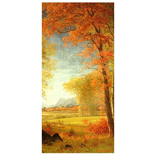 Bilderwelten Tenda a Pannello - A. Bierstadt - Autunno Oneida NY 250 x 120cm Senza Supporto