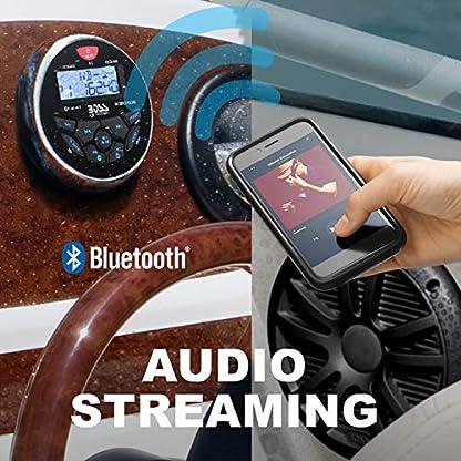 Boss-Audio-MCKGB350B-6-Combo-Marine-Gauge-Radio-wMarine-Antenna-2-6-5-Speakers-Black