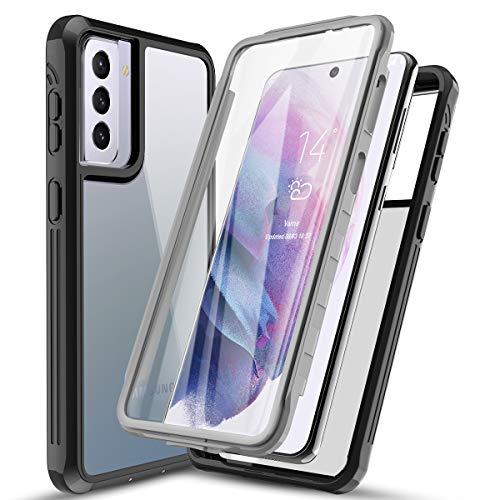 AICase Cover per Samsung S21 TPU Bumper Rugged Trasparente Antiurto Case per Samsung Galaxy S21 Custodia Protettiva Rigida con Protezione per Lo Schermo Integrata