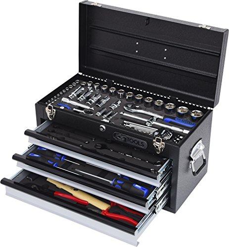 "KS Tools 918.0200 1/4""+1/2"" CHROMEplus Universal-Werkzeug-Satz, 99-tlg."