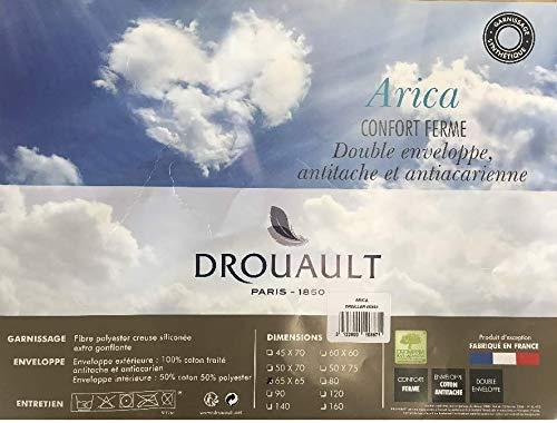 DROUAULT Oreiller Carré Arica - Couleur - Blanc, Taille - 65x65