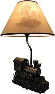 Light in the Tunnel Steam Train Engine Table Lamp with Shade
