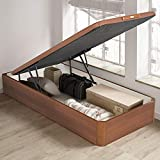 PIKOLIN, canapé abatible de almacenaje Color Cerezo 90x190, Servicio de Entrega Premium Incluido