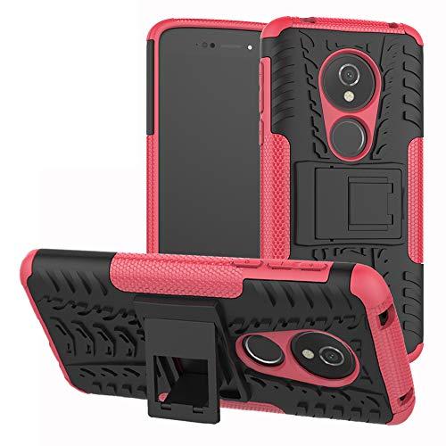 Labanema Moto E5 / G6 Play Hülle, Abdeckung Cover schutzhülle Tough Strong Rugged Shock Proof Heavy Duty Hülle Für Motorola Moto E5 / G6 Play-Rose Red