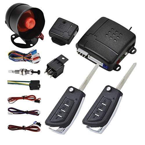 Maso - Kit universal de cerradura central para coche, con sensor de impacto + caja de control + 2 mandos a distancia de repuesto para cerradura central de puerta
