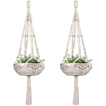 YHmall 3pcs Suspension Plantes Macramé Support Pots Suspendu