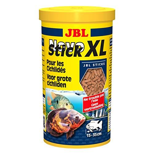 JBL NovoStick XL 30281 Alleinfutter für große fleischfressende Buntbarsche, Sticks 1 l