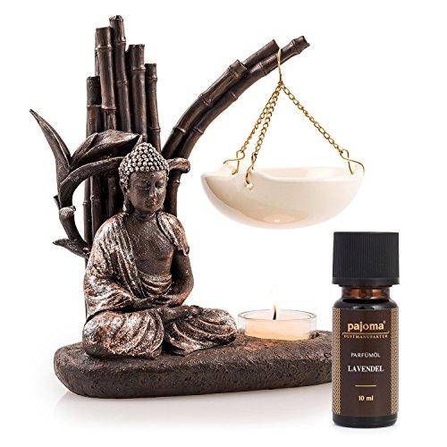pajoma Duftlampe Buddha inkl. 10 ml Lavendelöl - Geschenkset