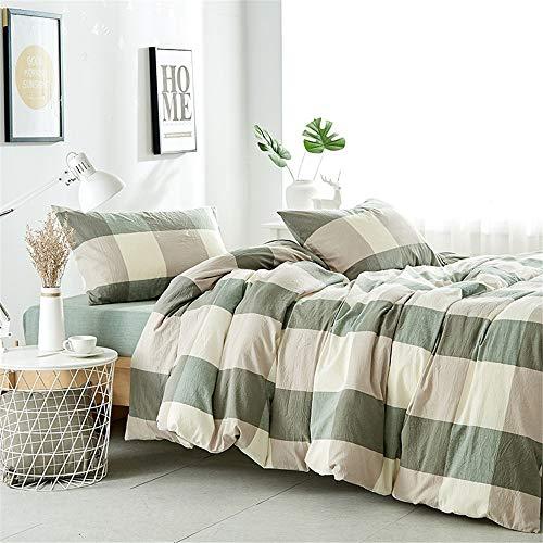 Madeinely Dekbedovertrek Sets Extra Zacht Katoen 4PC Bed Sheets Set Ademend, Gemakkelijk te passen, Gemakkelijk te verzorgen, Beter Slaap Gids 5 Kleuren Duurzaam en Comfortabel