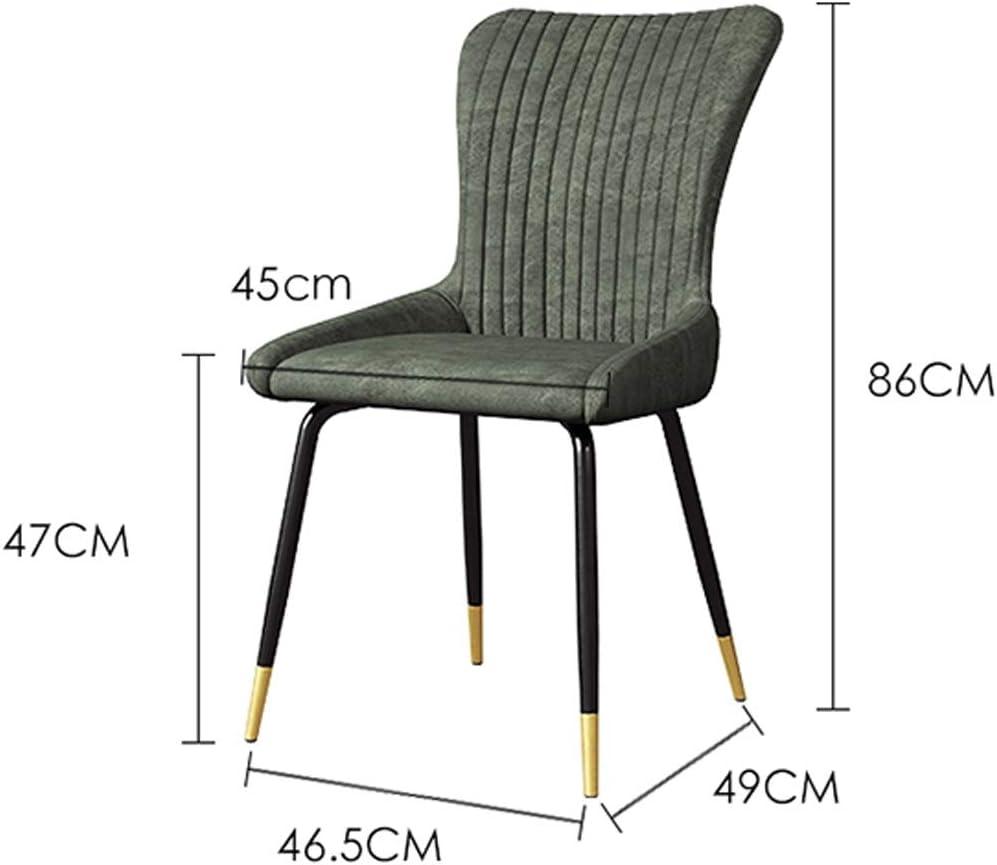 Chaise WGZ de Salle, de Bureau Simple, créative Dossier, Loisirs, Maison Adulte de Salle Simple (Color : Light Grey-A) Green-b