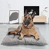 BCASE Cama Perro, Cama de Perros Grandes, Cama para Perros, Cama para Mascotas Desmontable y Extraíble Lavable 110x 80 x 15 cm (XL, Gris)