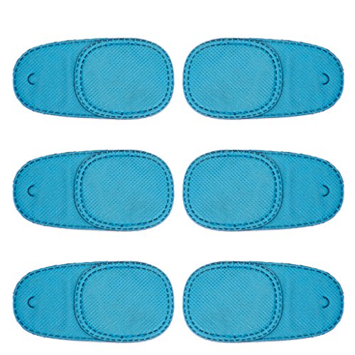 JIACUO 6 pcs Amblyopie Patchs Oculaires Enfants Enfants pour Traiter Les Lunettes de Strabisme Kit Nouveau Bleu