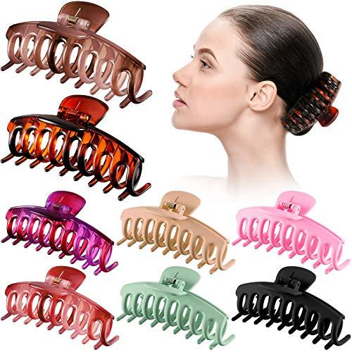 8 Stück Groß Haar Klaue Clips 4,3 Zoll Große Haarspangen Starker Halt Haarfang Haarspange Kiefer Klemme für Dickes, Dünnes Haar, Matte Schildkröten Haarspangen...