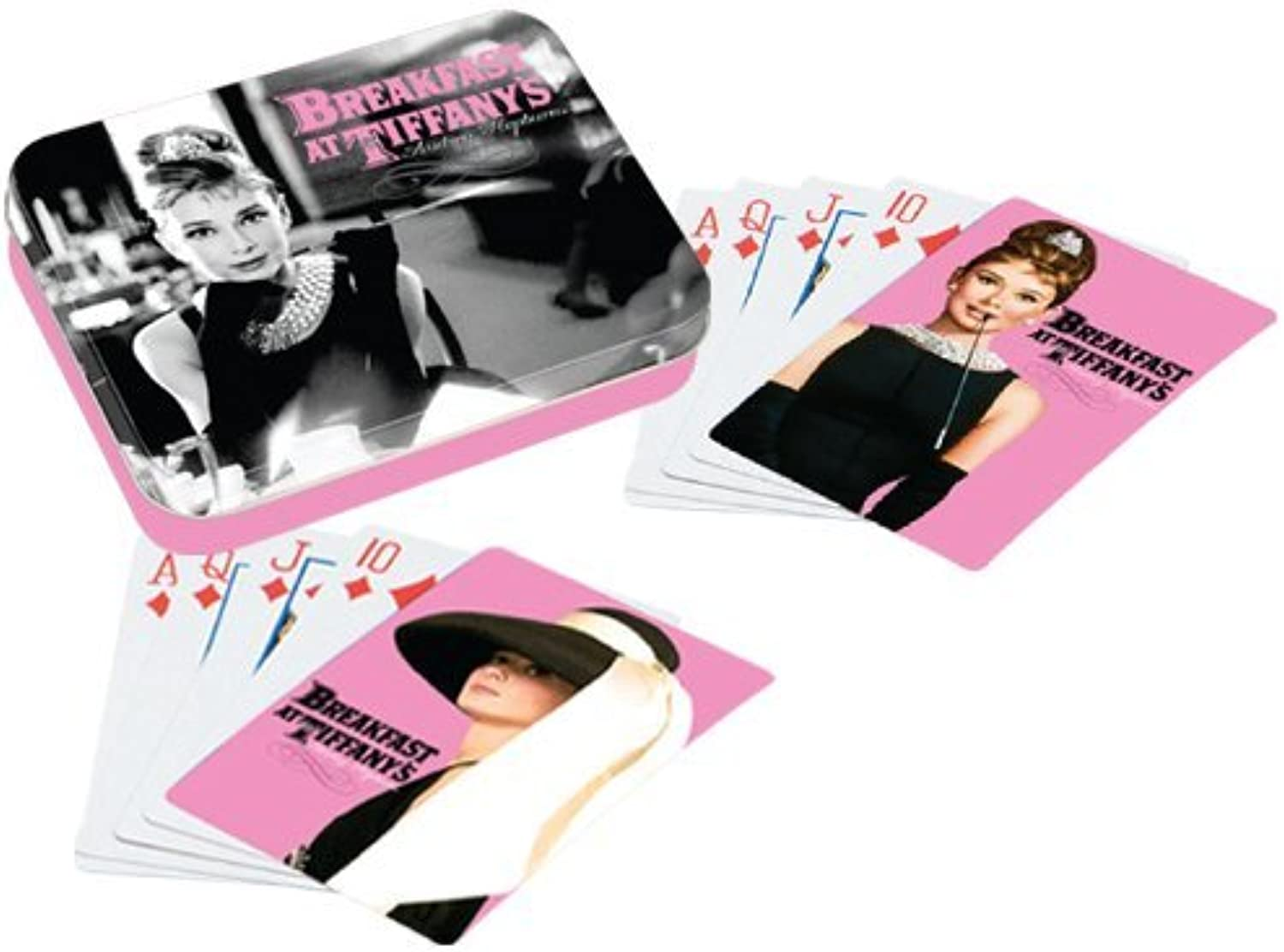 5.5 Inch Audrey Hepburn Collectible Playing Card Gift Set, Black Pink by Vandor