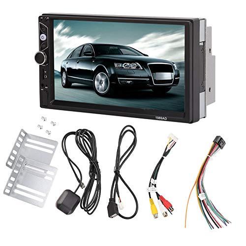 Reproductor Multimedia para AutomóVil, Sistema de Audio Y Video de 7 Pulgadas Y 2 Din, NavegacióN de Posicionamiento, Reproductor de Mp5 Para AutomóVil Con Bluetooth de Cuatro NúCleos para Android, Na