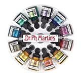 Dr. Ph. Martin's 400869-XXX Iridescent Calligraphy Color Bottles, 1.0 oz, Set of 12 (Set 2)
