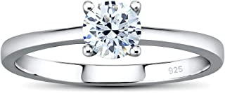 Silvego Engagement Ring Made of 925 Sterling Silver Madison with Swarovski Zirconia